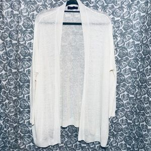 White light weight cardigan